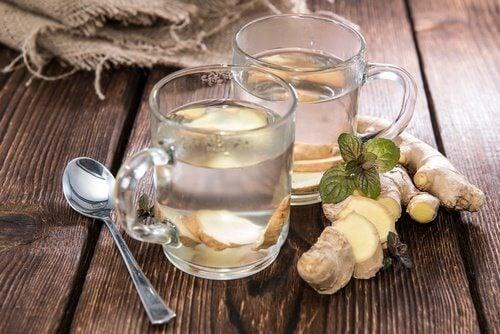 Tee mit Ingwer und Zitrone zum Abnehmen