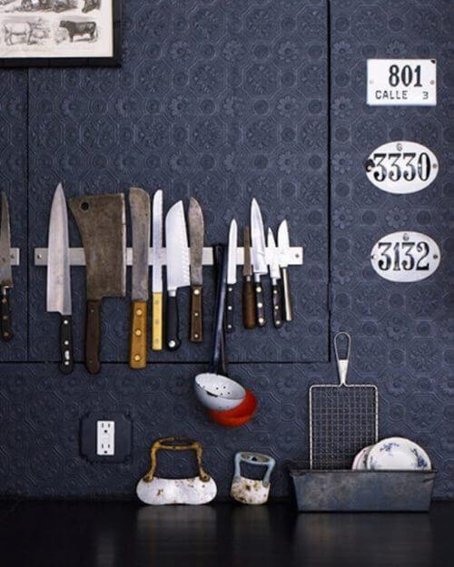 Magnetband für Messer in der Küche für mehr Ordnung zu Hause