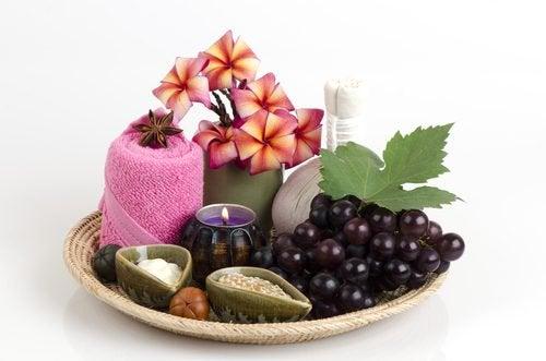 Behandlung von Pigmentflecken mit Trauben und Vitamin E