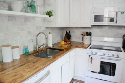 4 perfekte Ideen für die Dekoration von kleinen Küchen