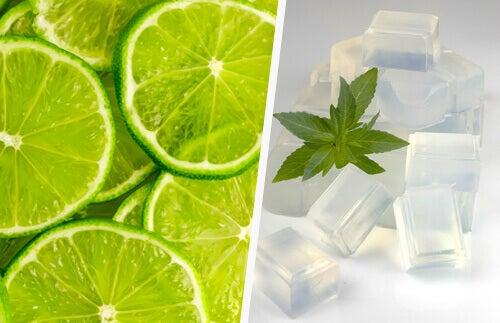 Rosenwasser zur Gesichtspflege: mit Limette und Glycerin