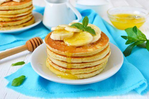 Nutzung von Bananen für Pfannkuchen