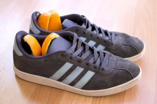 Weiterverwendung von Orangenschalen in Schuhen