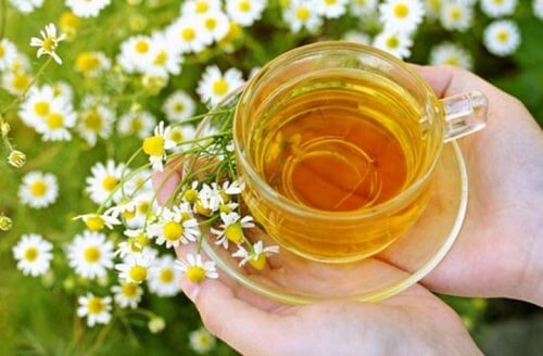 beruhigende Tees: Kamille und Lindenblüte