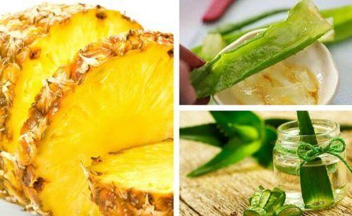 Detox-Getränke mit Ananas und Aloe Vera