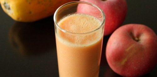 entgiftende Getränke mit Apfel