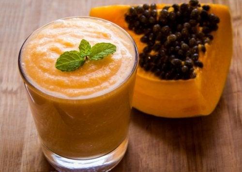 entgiftende Getränke mit Papaya