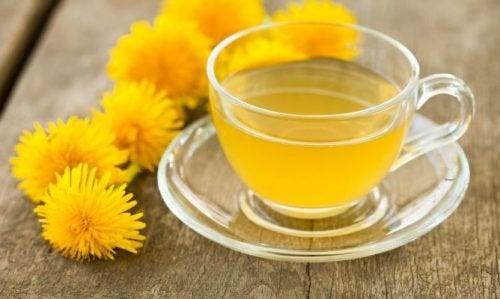 Entgiftende Tees mit Löwenzahn
