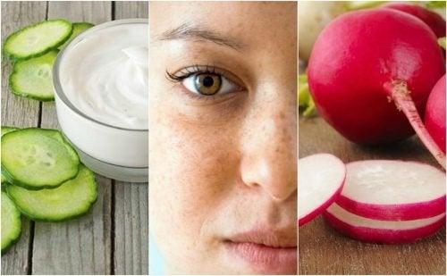 5 Hausmittel gegen Hautflecken im Gesicht