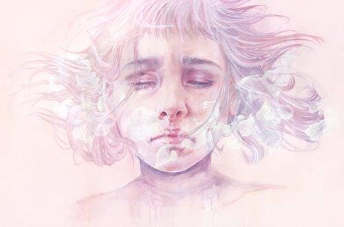 junge Frau leidet an Depression, ohne es zu wissen