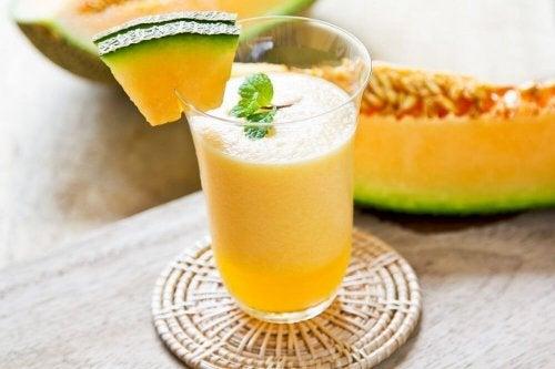 Obstgetränke mit Melone