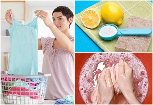 Ohne Spezialprodukte schwierige Flecken aus Kleidung entfernen