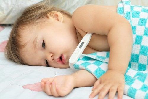 Kind mit Coxsackievirus