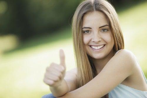 positive Gedanken einer Frau