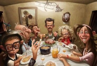 toxische Familien beim Essen