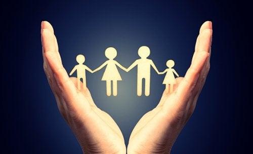 toxische Familien symbolisch dargestellt