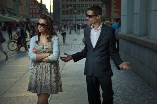 Streit und falsche Verhaltensweisen in einer Beziehung