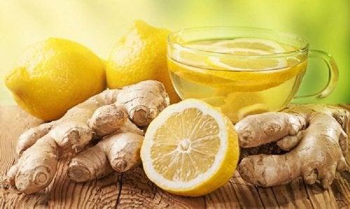 Leber im Schlaf entgiften mit Ingwer und Zitrone