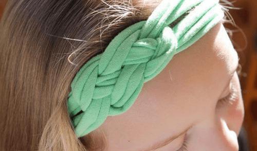 9 tolle Arten alte Baumwollshirts zu recyclen - Haarbänder