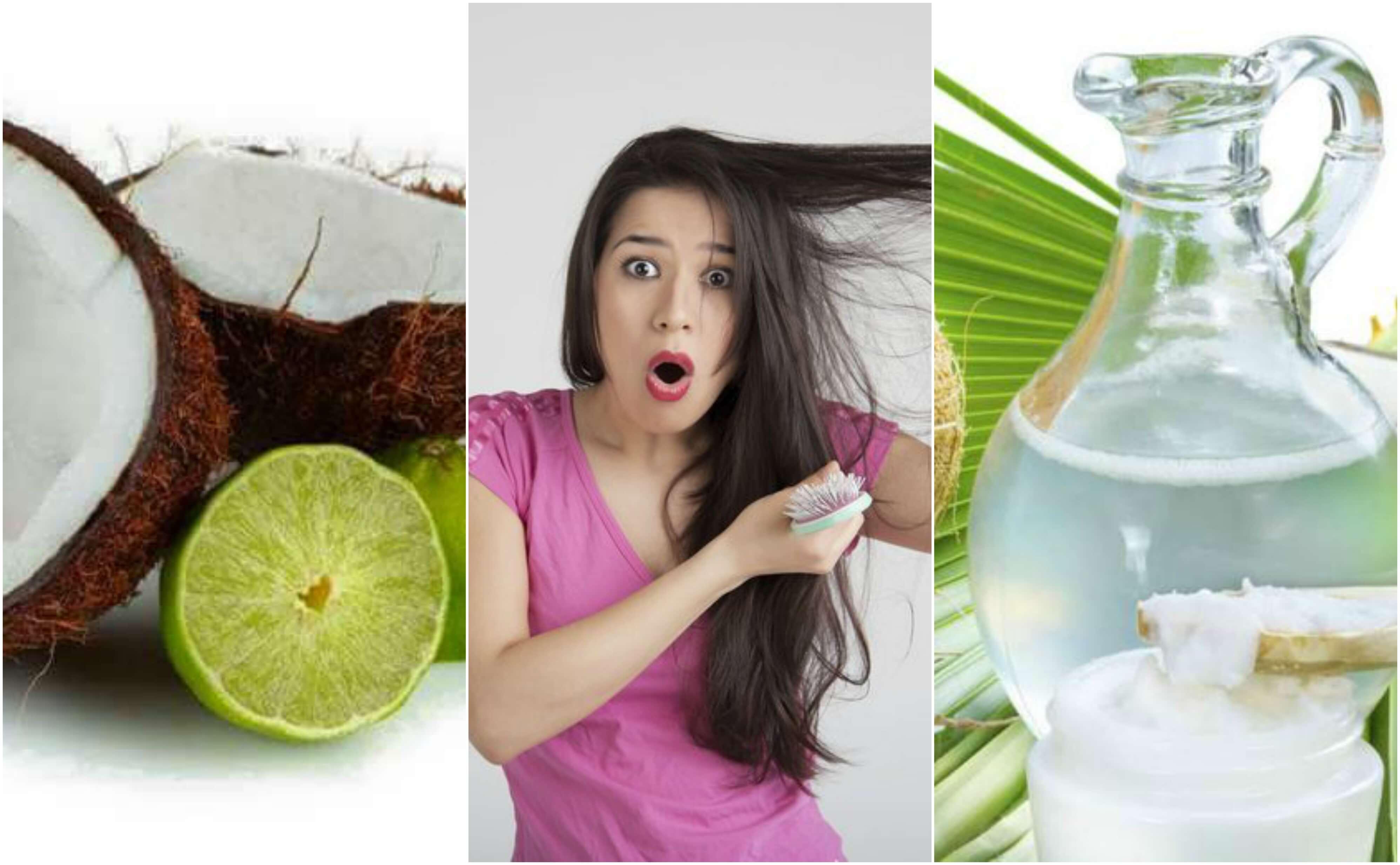 Bekämpfung von Haarausfall mit Kokoswasser und Zitrone