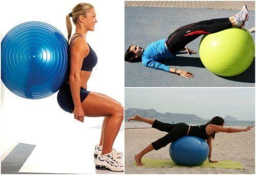 5 Übungen für den Hintern mit Gymnastikball
