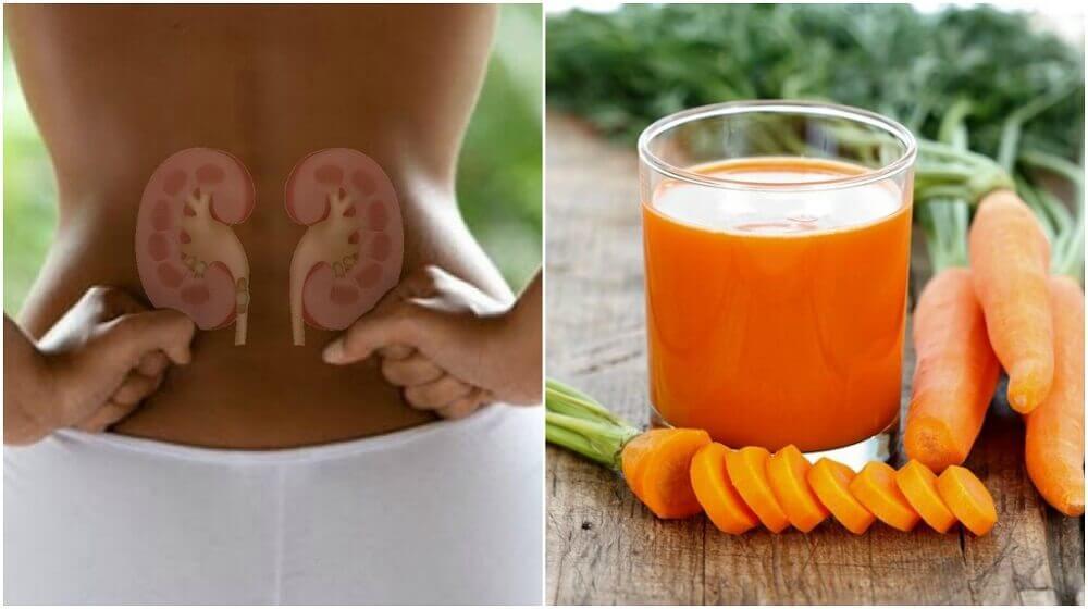 Nierenentgiftung mit Karotten-Gurken-Saft