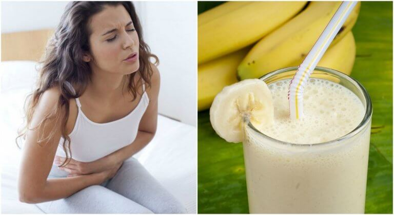 Mixgetränk mit Kartoffel und Banane gegen Magenleiden