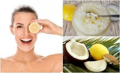 kosmetische Behandlungen mit Zitrone
