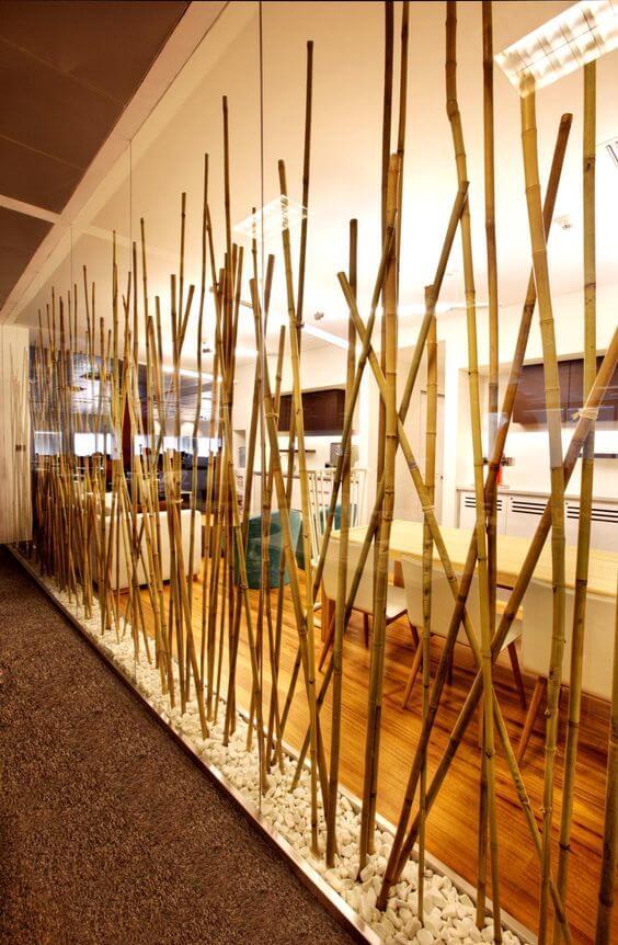 Rustikal orientalischer Raumteiler