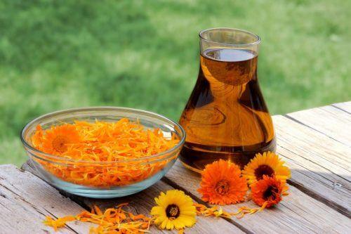Behandlungen gegen Schwangerschaftsstreifen: Hausmittel mit Olivenöl und Ringelblume