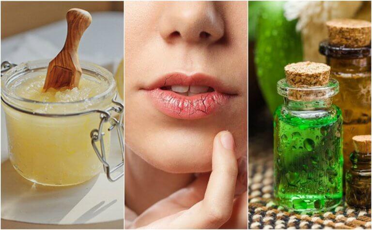 Trockene, rissige Lippen behandeln