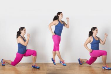Springende Ausfallschritte können deinen Körper trainieren.