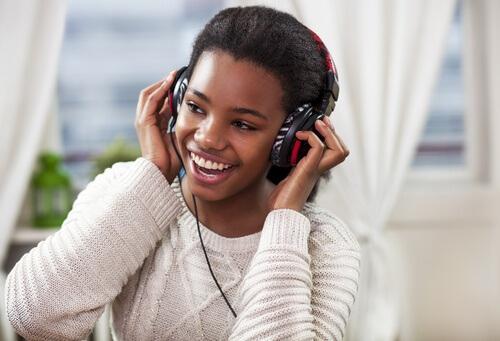 Musik hören um Energie zu tanken