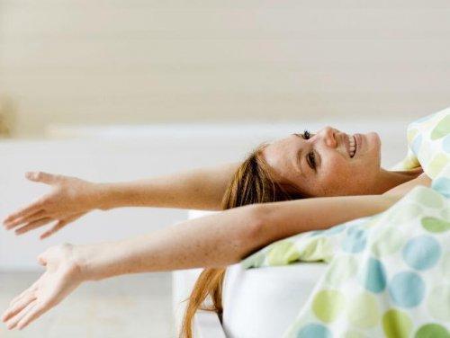 Stretching um Energie zu tanken