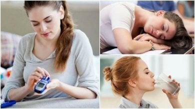 anfängliche Symptome von Diabetes