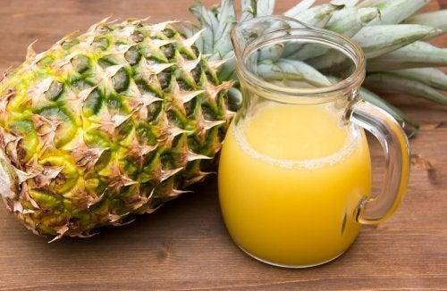 Ananasschale zum Abnehmen