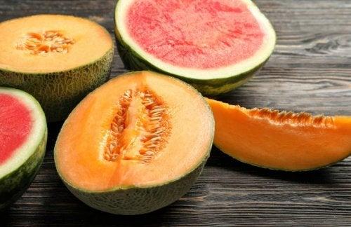 ungesunde Lebensmittelkombinationen: Melone und Wassermelone