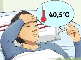 hohes Fieber - erhöhte Körpertemperatur