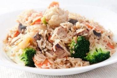 500 Kalorien sparen Reispfanne