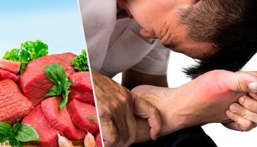 Vermehrte Bildung von Harnsäure durch bestimmte Lebensmittel
