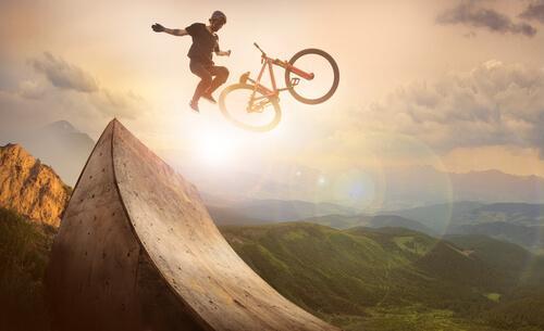 Adrenalin extremer Sport
