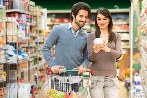 Essverhalten und Einkauf im Supermarkt
