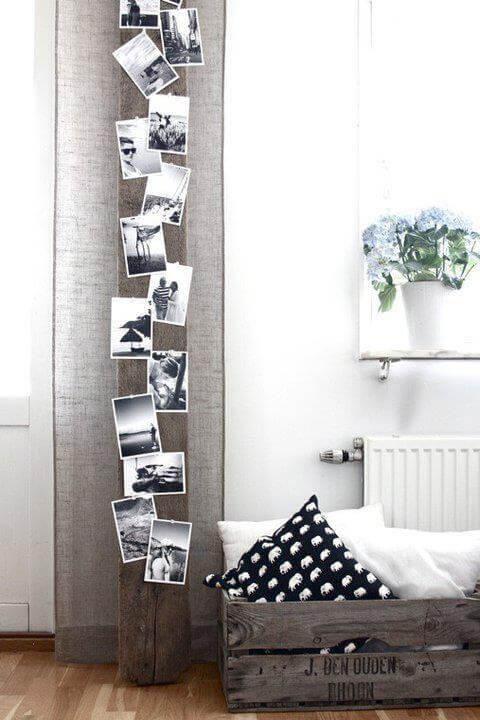 Eine von vielen tollen Fotoideen ist eine Fotopinnwand.