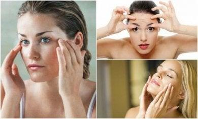 Gesichtsübungen für straffe Haut.