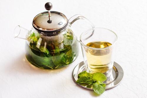 Pfefferminze für Tee