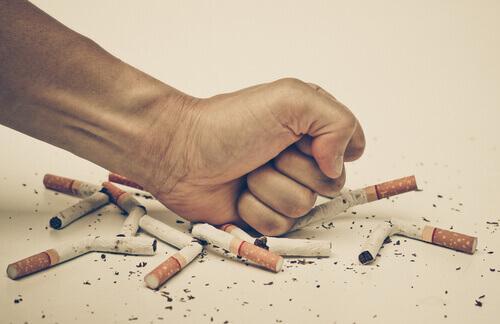 Schlechte Angewohnheit Zigaretten