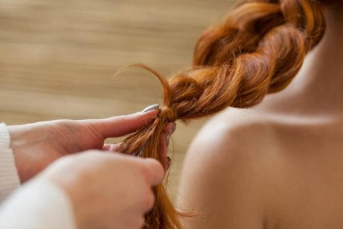 Zopf für lockige Haare
