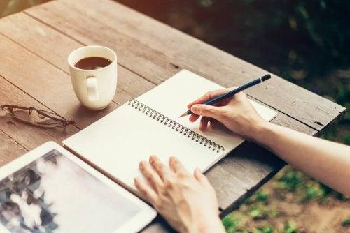 raus aus der Komfortzone: tagebuch schreiben