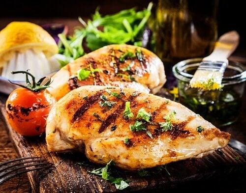 kaliumreiche Lebensmittel: Hähnchen