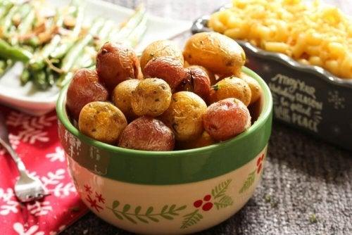 Minikartoffeln und Shrimp-Pulver sowie andere proteinreiche Rezepte ohne Hühnchen